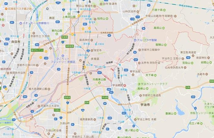 パソコン修理やパソコン設定 京都市伏見区 もご対応地域です