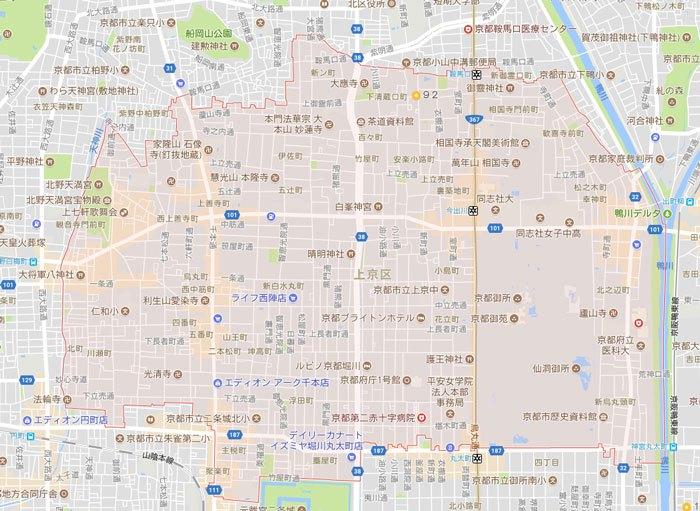 京都市上京区にもパソコン修理やパソコン設定にお伺いしています