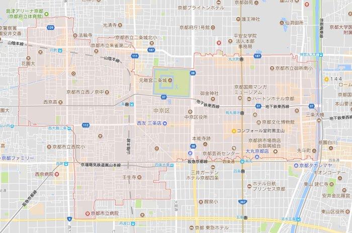 パソコン修理や設定に京都市中京区もお伺いしています