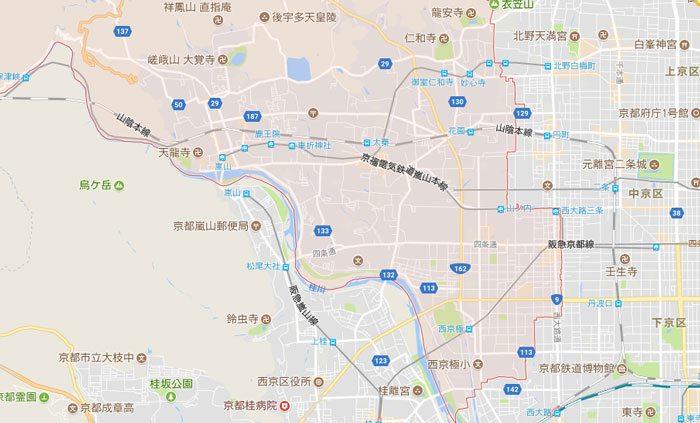 京都市右京区はNCOのパソコン修理 ご対応地域です